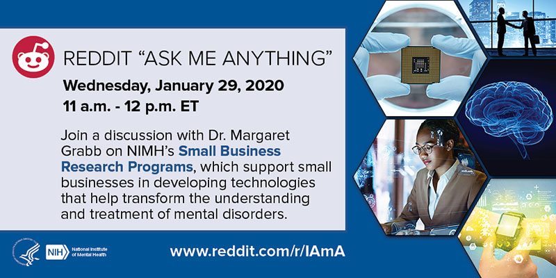 "Reddit ""Ask Me Anything"" with Dr. Margaret Grabb – NIMH's Small Business Research Programs"